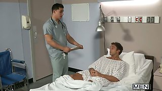 At the hospital, nurse Topher Di Maggio is so sexy he has