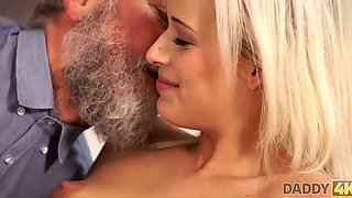 DADDY4K Bearded man gives sons gf dicking she needed so badly