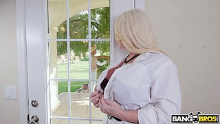 Cute looking black buddy gets lured by busty MILF Alura TNT Jenson and sucked