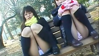 Asian upskirt closeups of the white lace panty on camera dvd DPM-003
