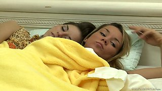 Lecherous lesbian babe Shyla Jennings is making love with her GF