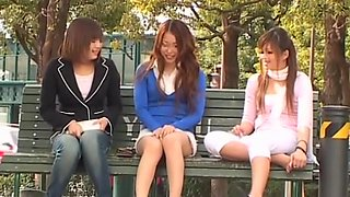 Women filmed on a hidden camera in various places