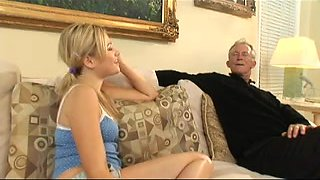 Slut Babysitter Screws Old Man