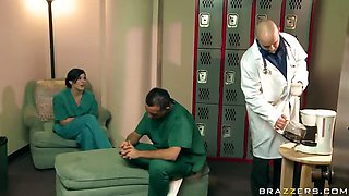 Sexy Doctor Takes Advantage Of Male Nurse