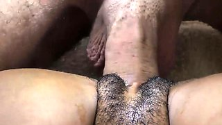 Interracial close up with BWC amateur creampie