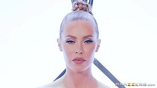 Perfect blonde Nicole Aniston in a cyber costume pussy drilled