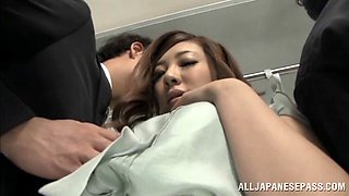 Minori Hatsune gets her Japanese pussy fingered in a crowded bus