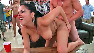 Victoria Voss and Alexis Fawx getting rammed during some party