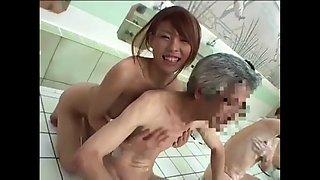 Japanese slut bath old man