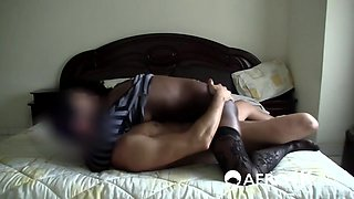 African slut with stocking getting pounded hard by a white cock
