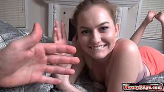 Hot sister pov with cum in mouth