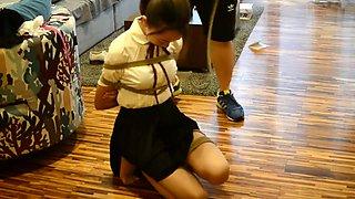 Chinese Schoolgirl Submissive Bondage