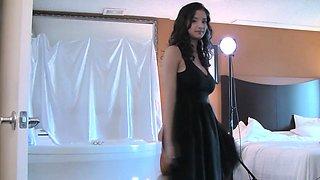 Shanaya Desi College Girl Stripping Doing Indian Photoshoot