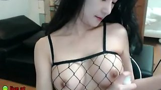Hot Korean camgirl in sexy tights