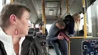 Beautiful blonde Russian fucking on the bus