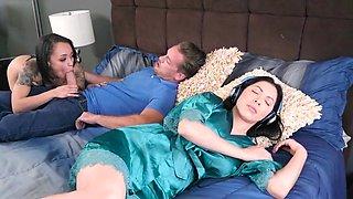 Holly Hendrix bedroom romance with her mom's boyfriend