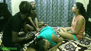 Indian Xxx Lover Couple Sharing Girlfriends : Clear Audio