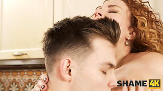 SHAME4K. Lovely MILF is trying to be a great neighbor