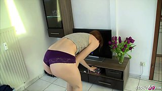 STEP SISTER caught watching Porn ny BRO and help with Fuck
