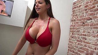 Big booty girl gets creampie