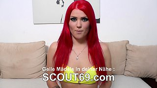 GERMAN SCOUT - Fat Teen Ashley Rough Fuck at Street Casting