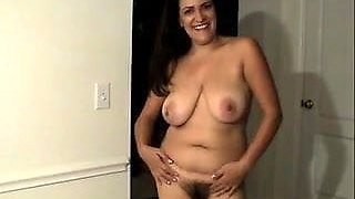 Hairy Mom Shows Her Clit BVR