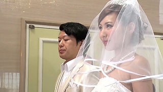 Asian Bride getting fucked on the wedding Ceremony