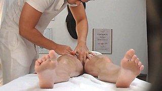 Czech Massage Room Intensive Sex with Teen Brunette