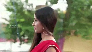 Teacher in Red Hot Saree
