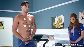 horny patient fucked the busty doctor