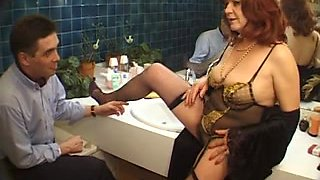 Mature French sluts seduce men with their pussies