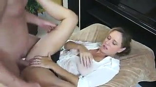 Busty Mom Shows Him Her Big Tits And Tight Pussy