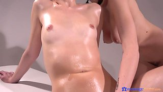 Emylia Argan & Sarah Smith in Big Tits Czech Loves Eating Pussy - MassageRooms