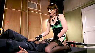 TS Mistress Disciplines Tattooed Hunk With Her Cock
