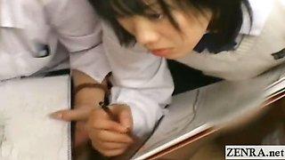 Subtitled CFNM Japan schoolgirls art class with teacher