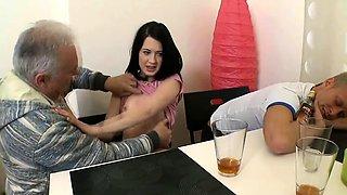 Lewd russian cutie fucks lucky pussy tester