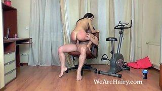 dalila has hot sex following a sexy workout