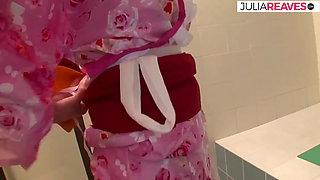 Japanese geisha fucked hard in the bathroom