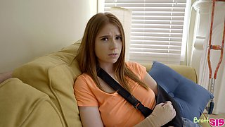 Looking naughty and acting slutty redhead Pepper Hart wanna ride dick