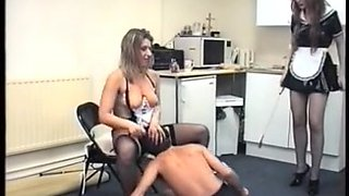 Vintage Cruel Mistresses beat their lowly domestic slaves
