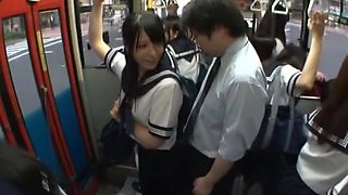 Best Japanese girl Ai Uehara in Incredible College, Bus JAV video
