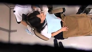 Dazzling Asian teen gets used by horny doctors on hidden cam