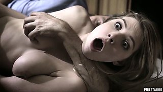 Stepdad gives a cunnilingus and fucks lovely Giselle Palmer right on the kitchen table