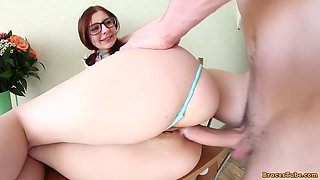 Bubble Rump Schoolgirl Got Laid Up Her Ass