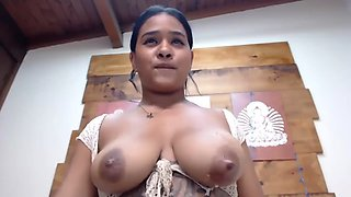 Latina with nice leaking titties