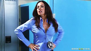 Jessica Jaymes is fucking in the locker room