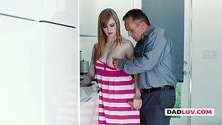 Dolly gets some steamy help in the kitchen by being fucked hard