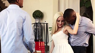 Shy Blonde Teen BBC Threesome