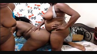 Ebony amateur tranny shemale wanking off