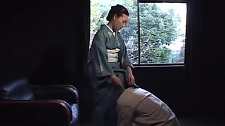The japanese wife riding on her slave husband